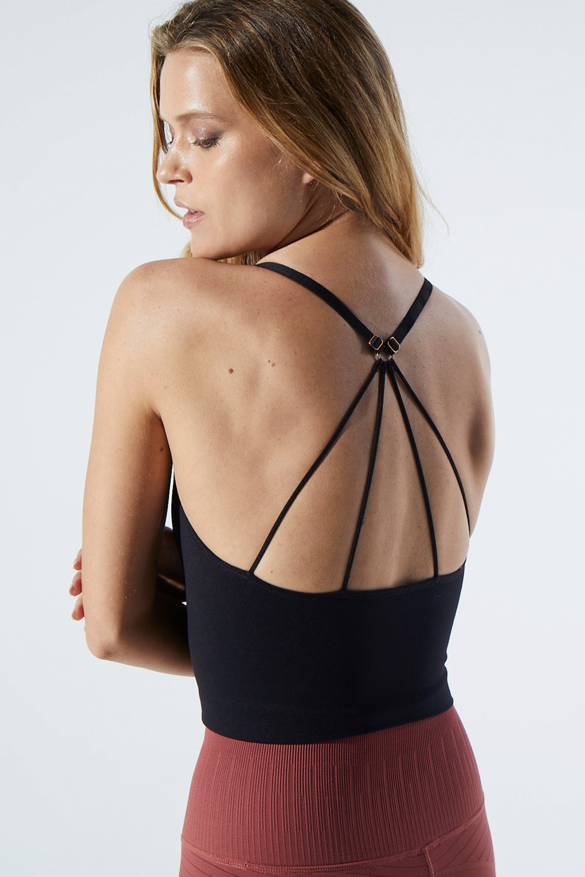 Stella Strappy Back Bra in Black