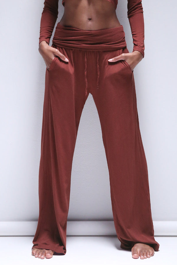 Bodi Lounge Pant in Fired Brick