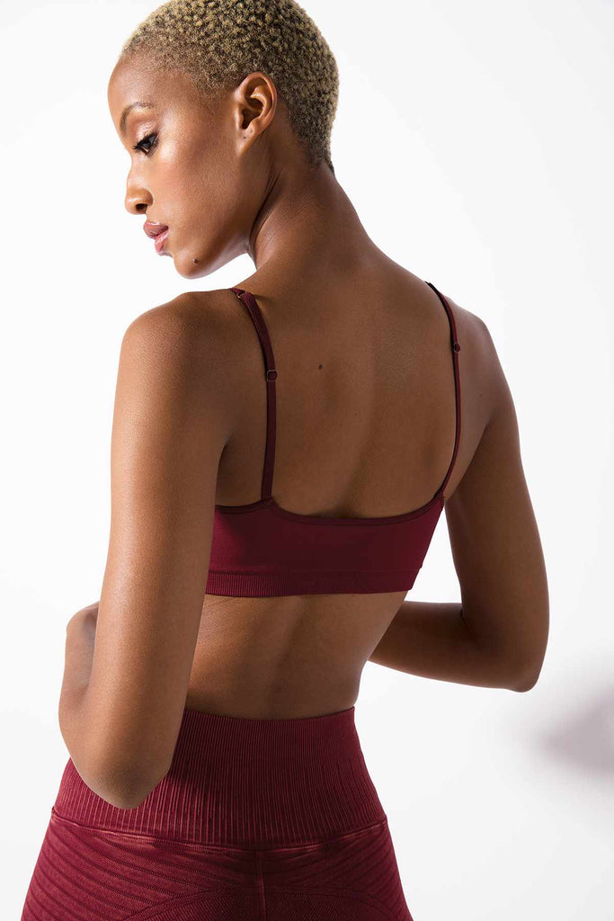 Clara Everyday Bralette in Cabernet
