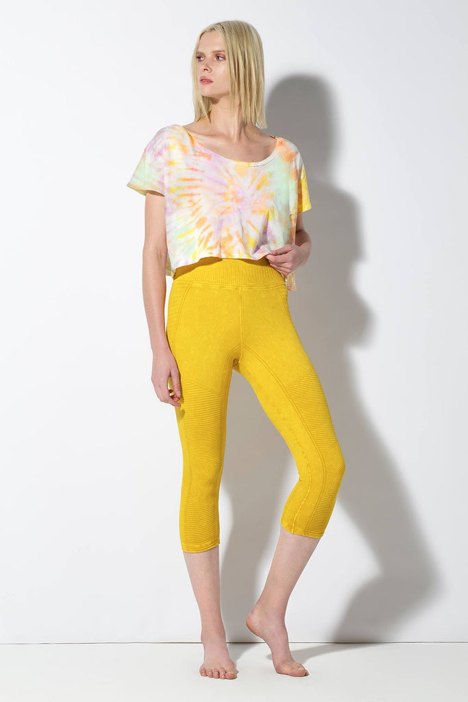 Carmen Crew Neck Crop in Sorbet Spiral