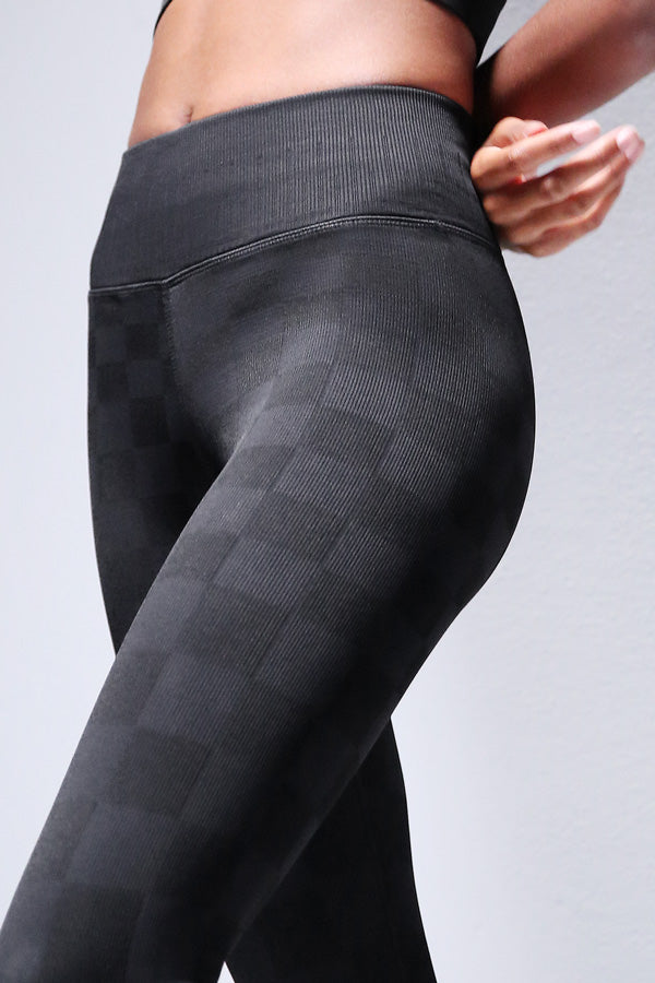 Checkered Legging in Black
