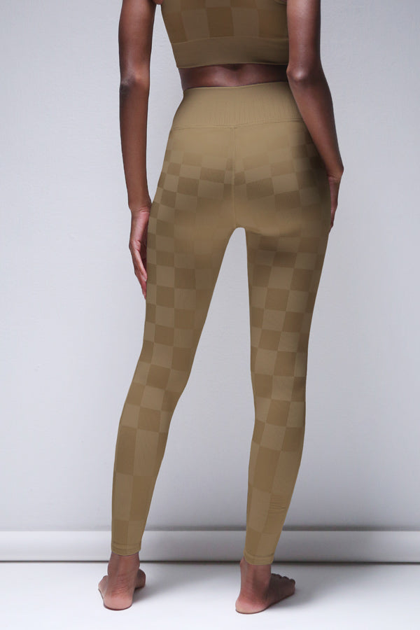 Checkered Legging in Pine Bark