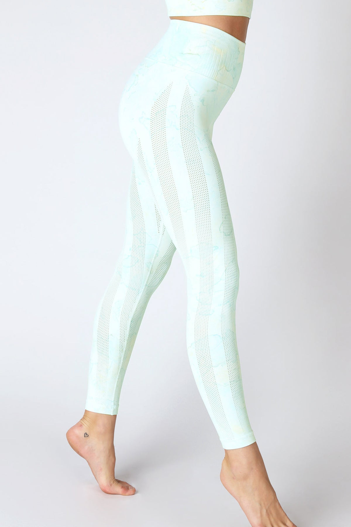 Breezy Legging Splash Series in Cool Blue/Lemon Splash