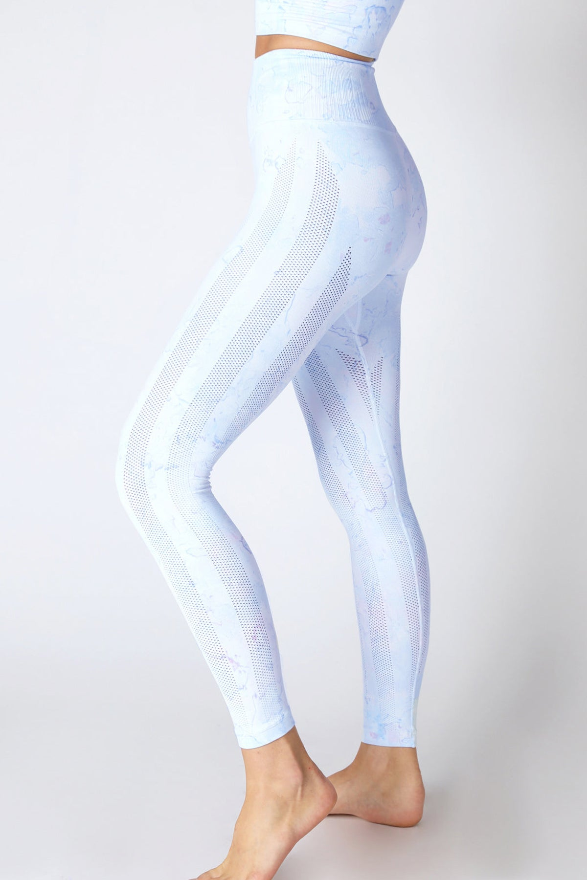 Breezy Legging Splash Series in Cool Blue/Bubble Splash