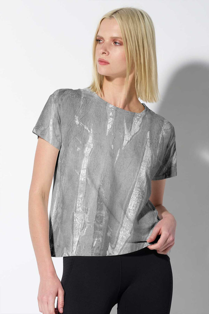 Crackle Favorite Tee in Granite Crackle Wash