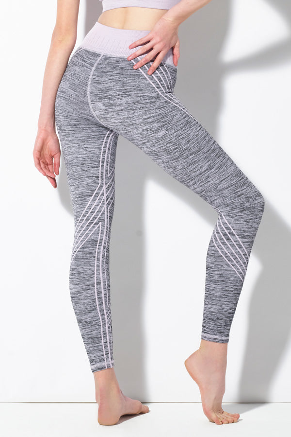 Danielle Striped Legging in Lavender Frost