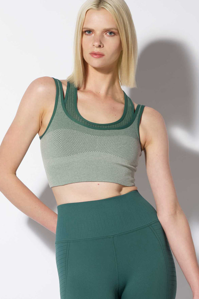 Danya Double Moto Bra in Jasper