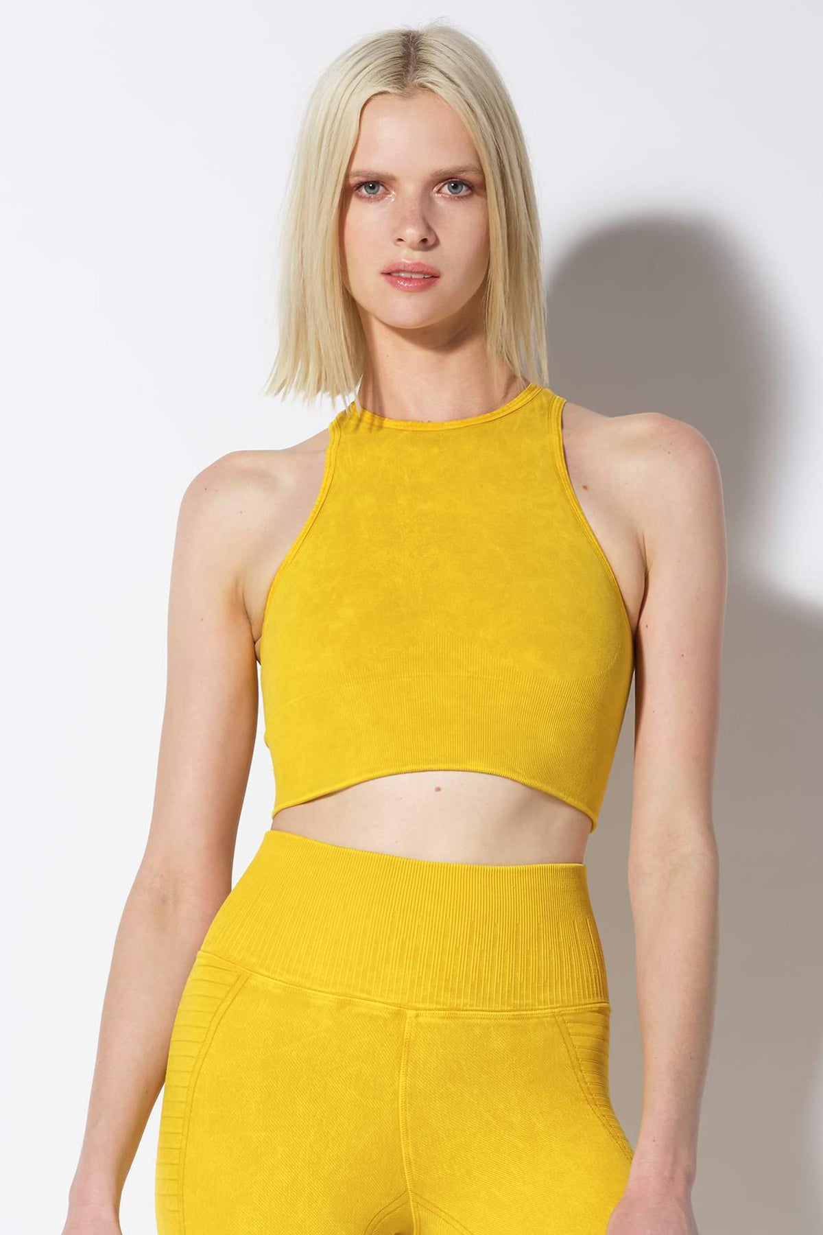 Gaia Crop Bra in Vintage Lemon Chrome