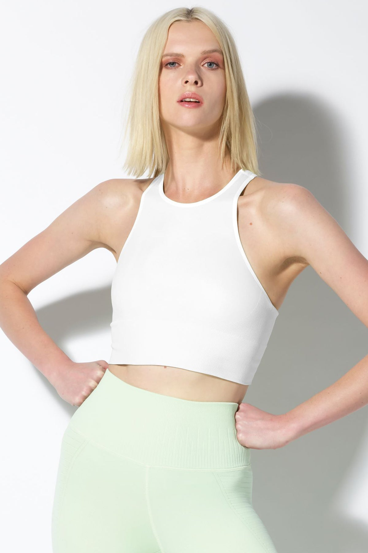 Gaia Crop Bra in White