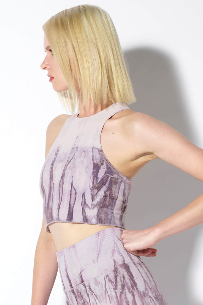 Crystal Gaia Crop Bra in Purple Agate Wash