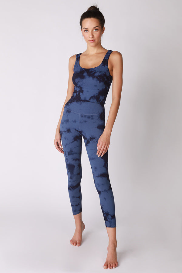 Haze Renee 7/8 Rib Legging in Maritime Blue Haze