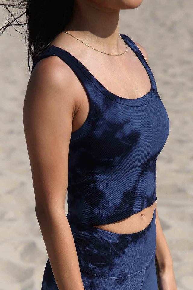 Haze Shayna Chevron Crop in Maritime Blue Haze