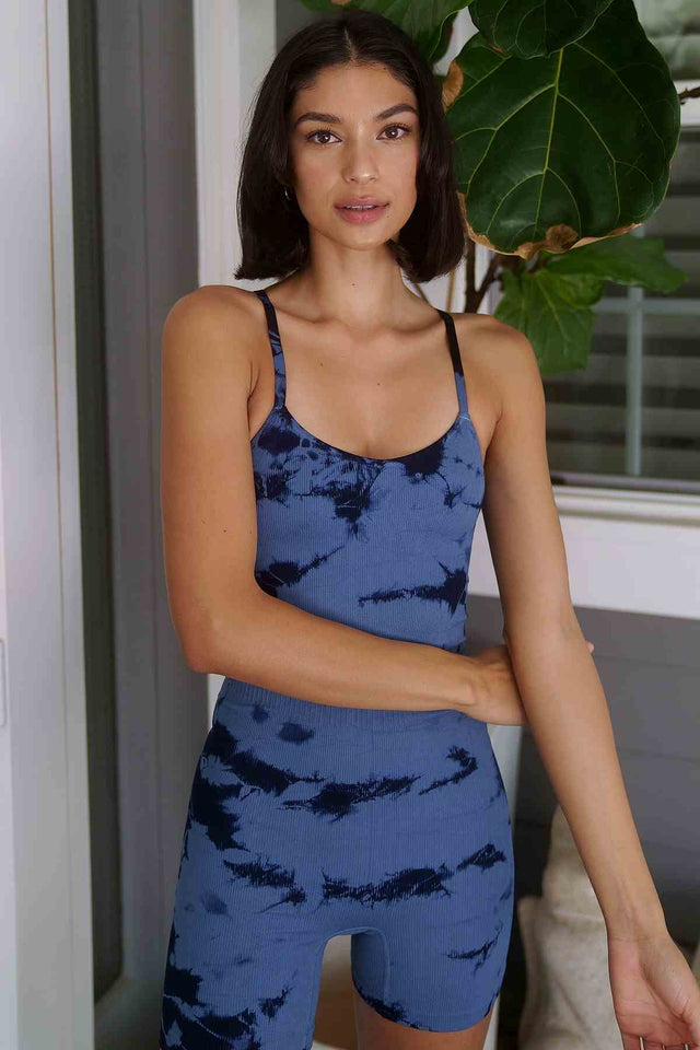 Haze Sydney Strappy Romper in Maritime Blue Haze