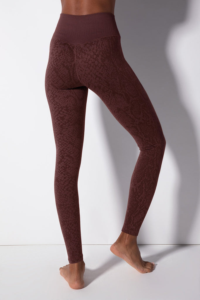 Polished Python Legging in Huckleberry