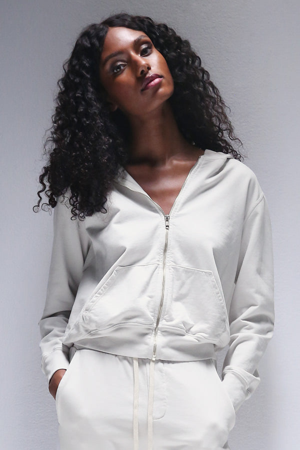 Jordyn Zip Up Jacket in Chalk