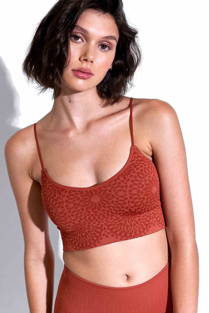 Katie Kaleidoscope Bra in Red Clay