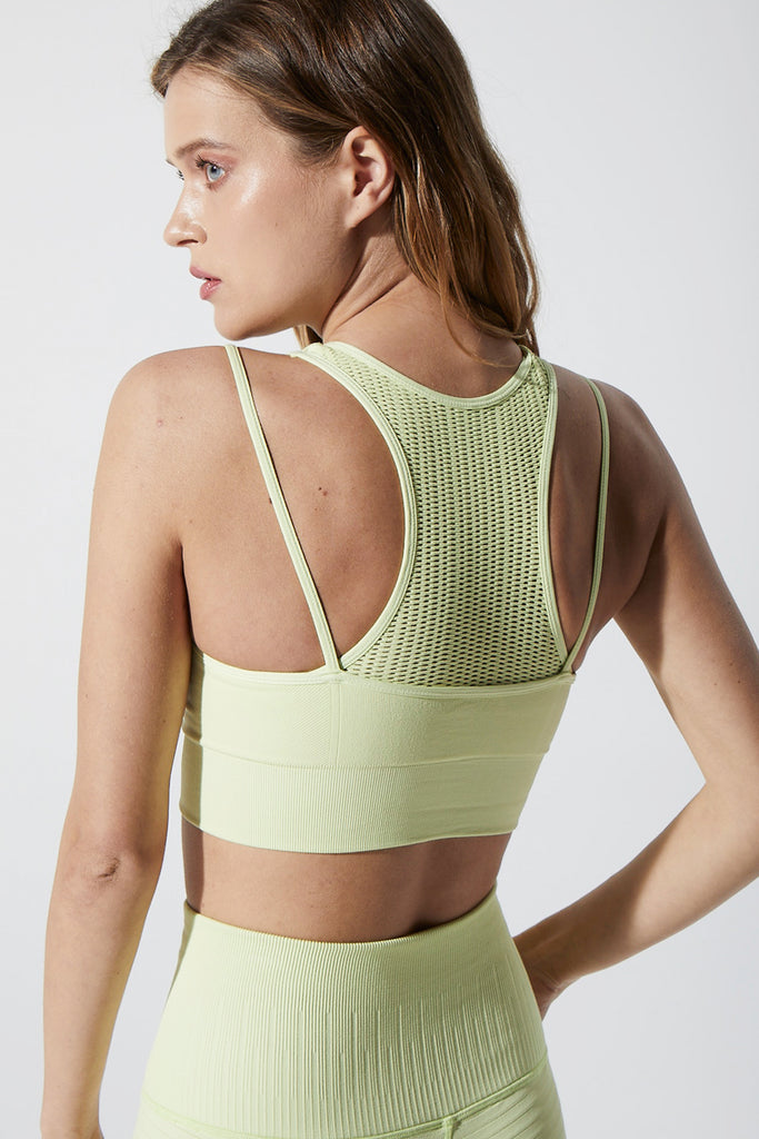 Double Time Bra in Luminary Green