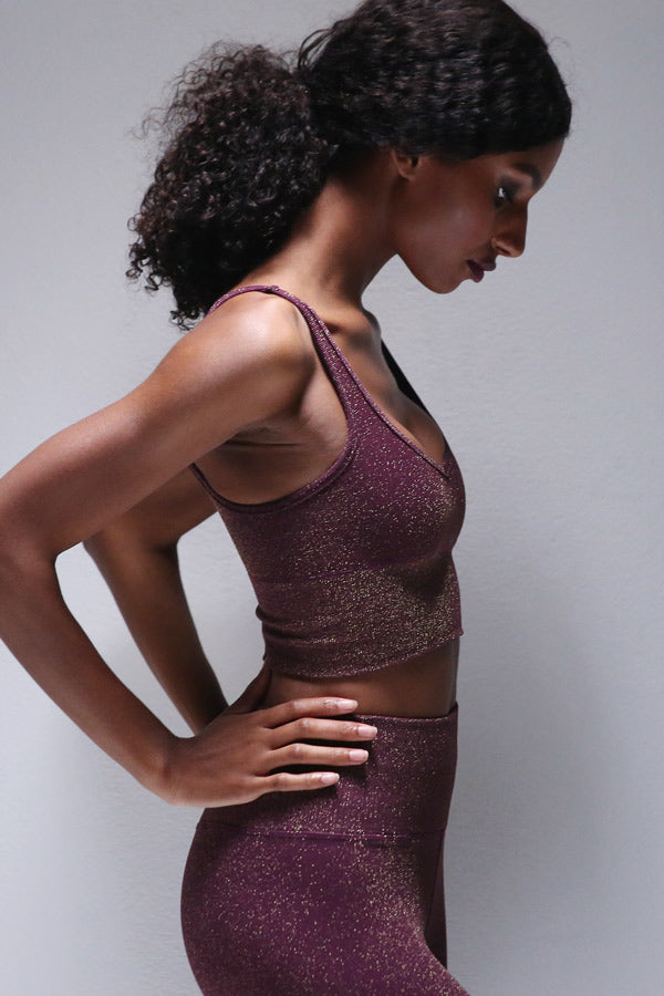 Lurex Bra in Potent Purple