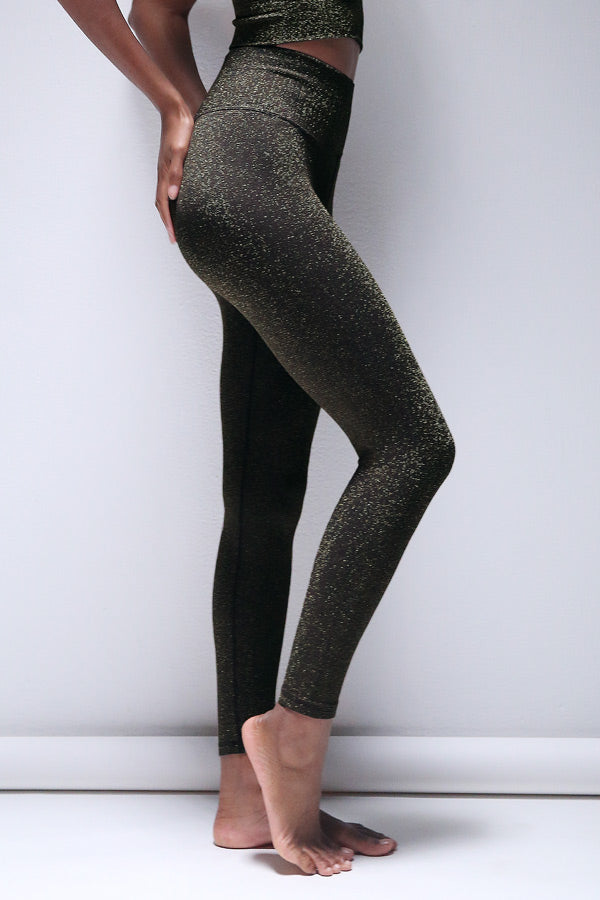 Lurex 7/8 Legging in Black