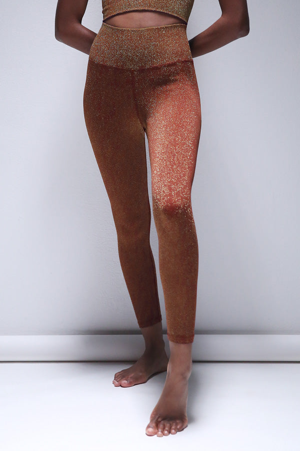 Lurex 7/8 Legging in Fired Brick