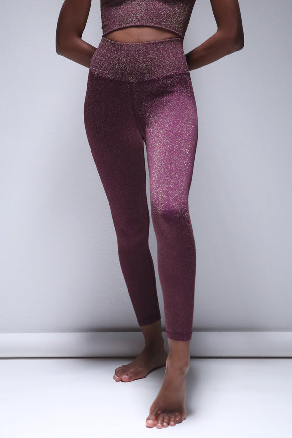 Lurex 7/8 Legging in Potent Purple