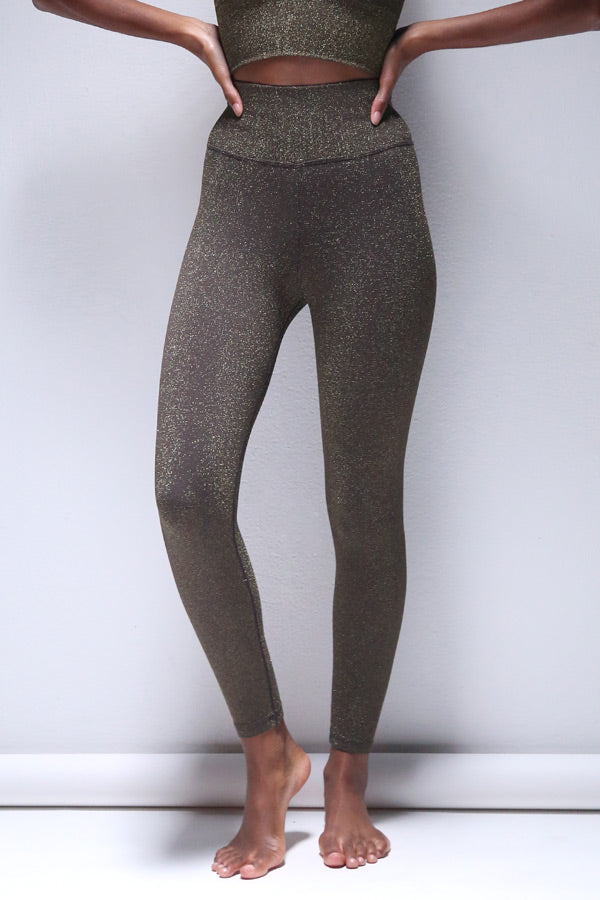 Lurex 7/8 Legging in Shale