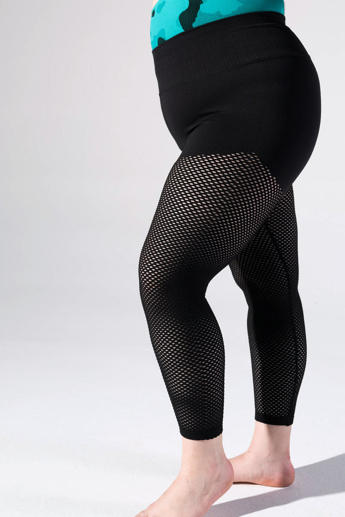 Melissa Mesh 7/8 Legging in Black