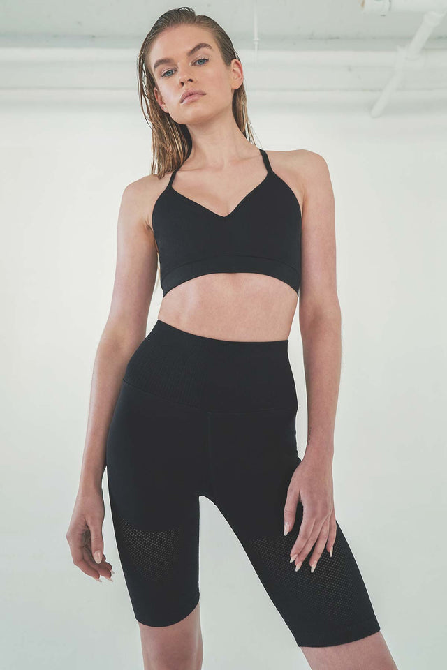 Mesh Bike Short in Black