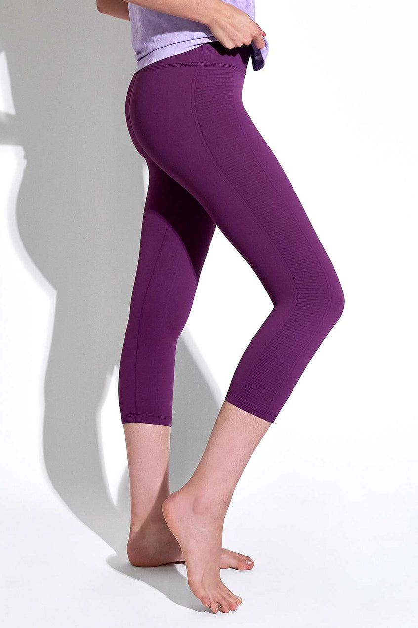 Mid Rise Air Capri in Dark Purple