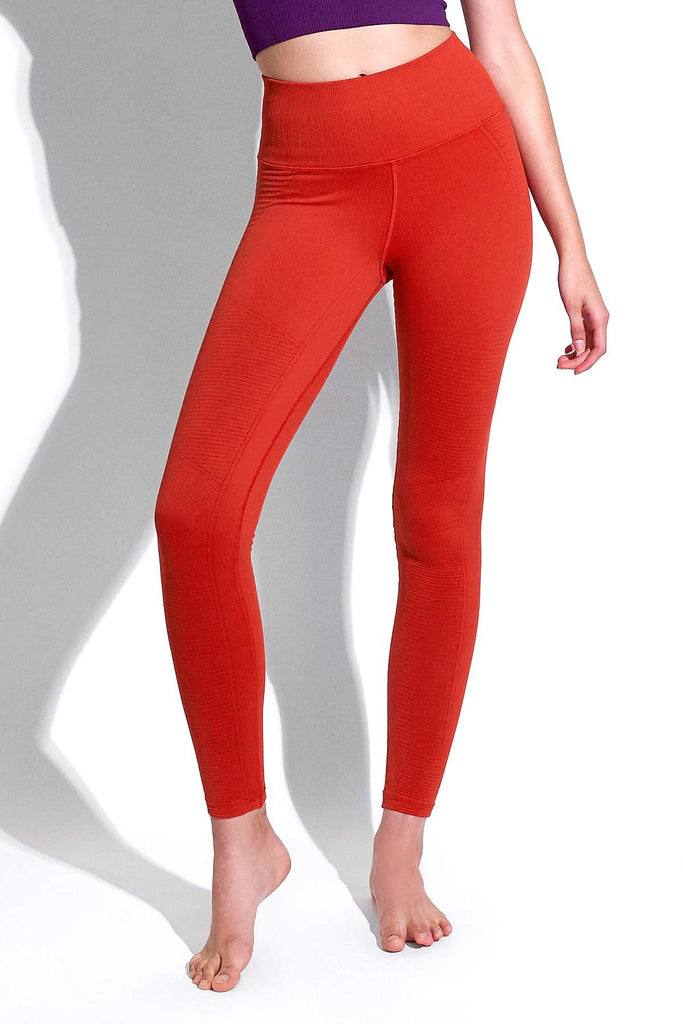 Mid Rise Phoenix Fire Legging in Aura Orange