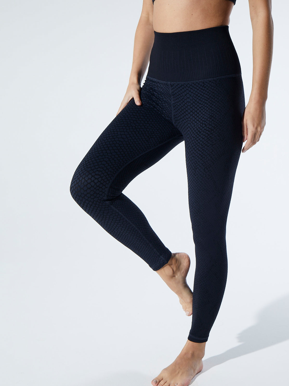 Snake Fire Legging in Midnight