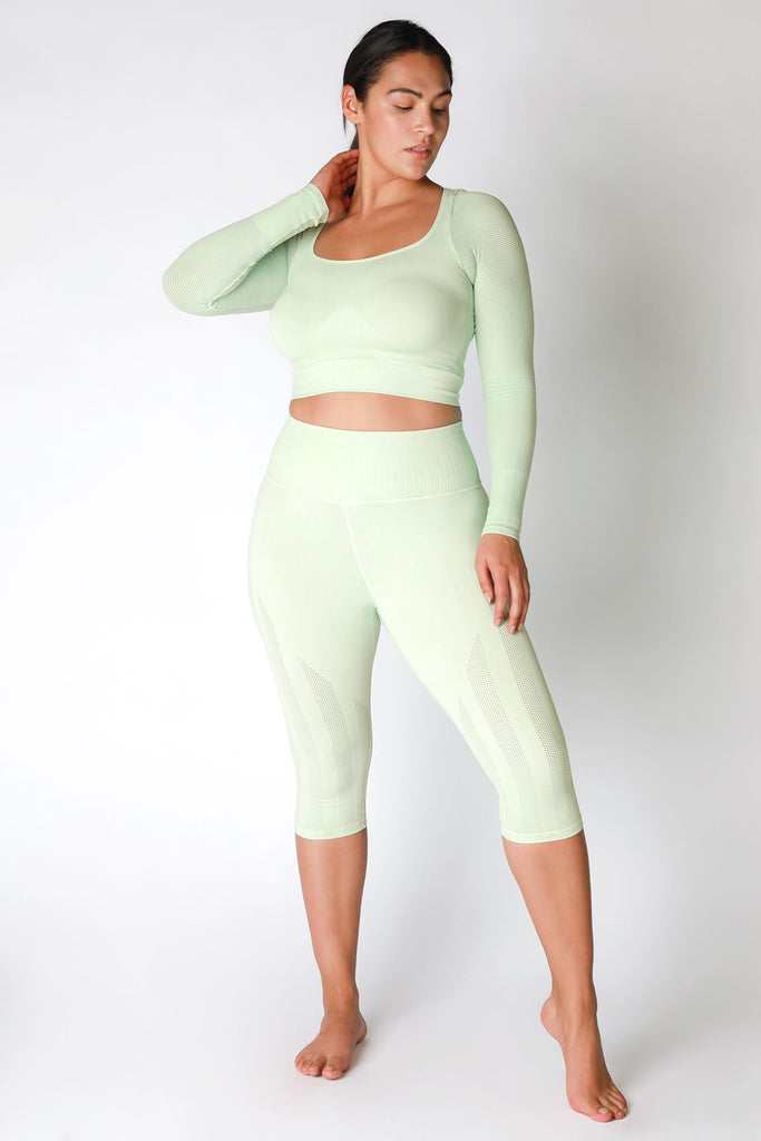 Breezy Cycling Capri in Vintage Mist Mint