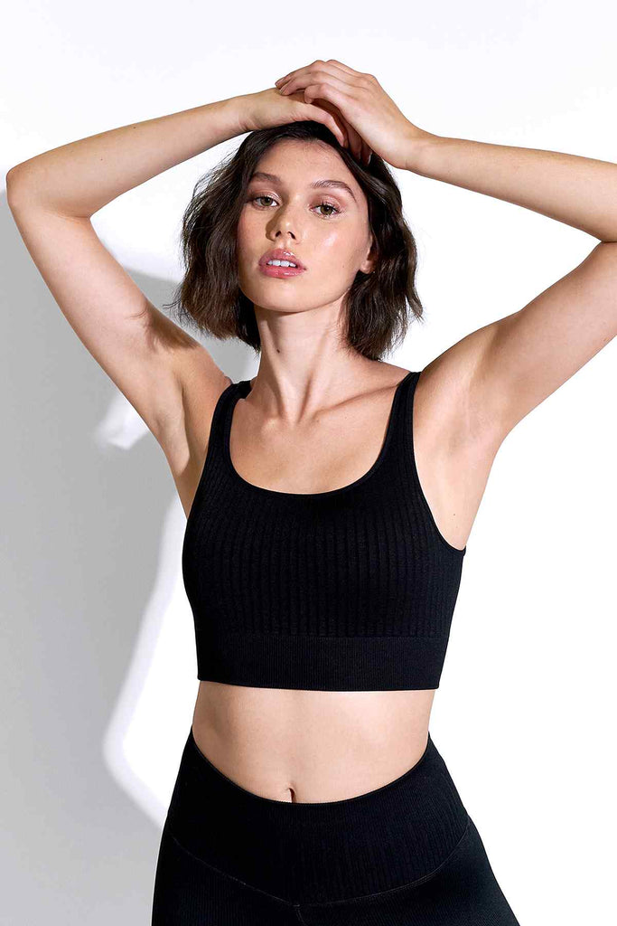 Odelia Scoop Neck Bra in Black