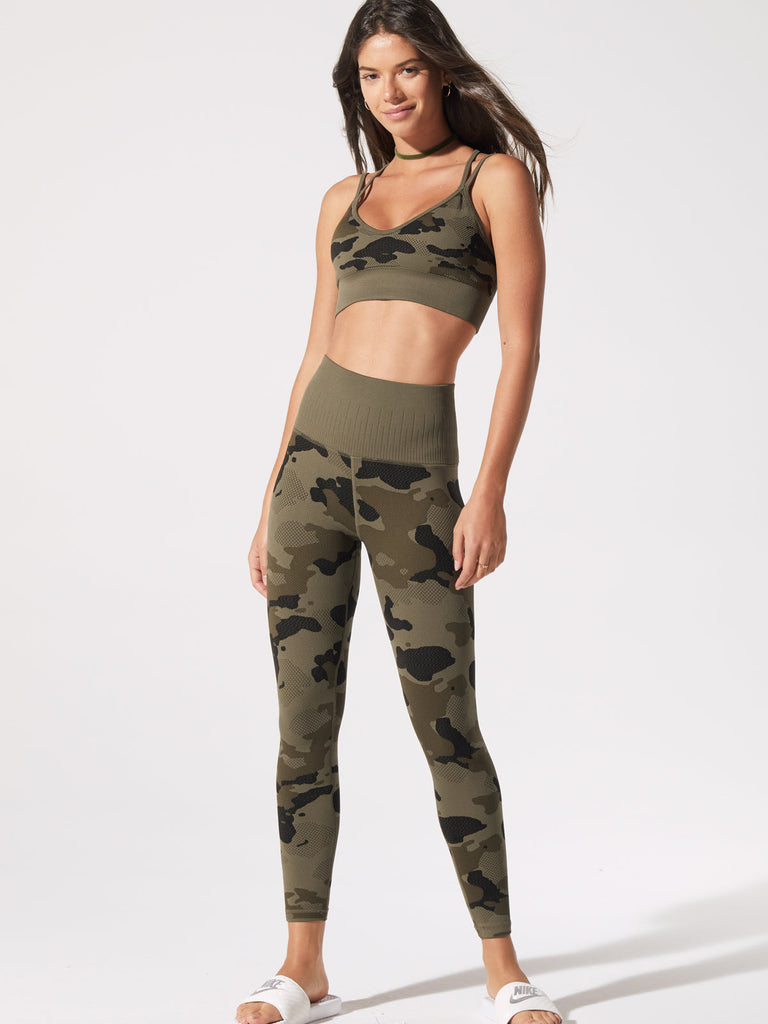 Camo Legging in Olive Night