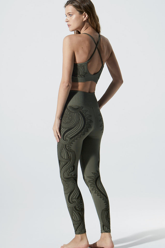 Deja Vu Legging in Olive Night