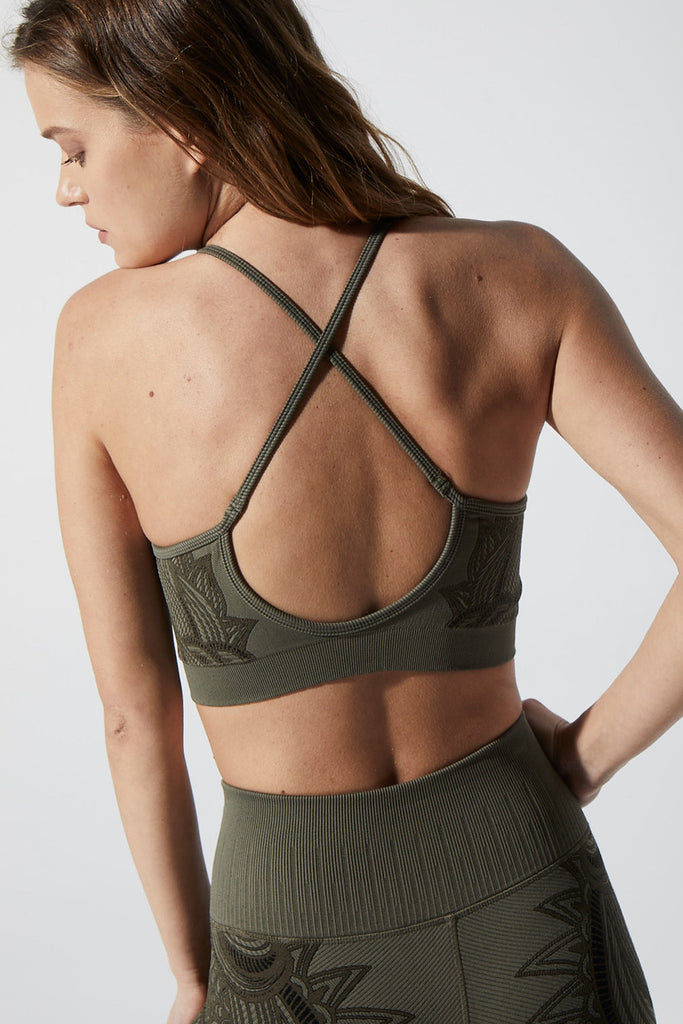 Deja Vu Bra in Olive Night