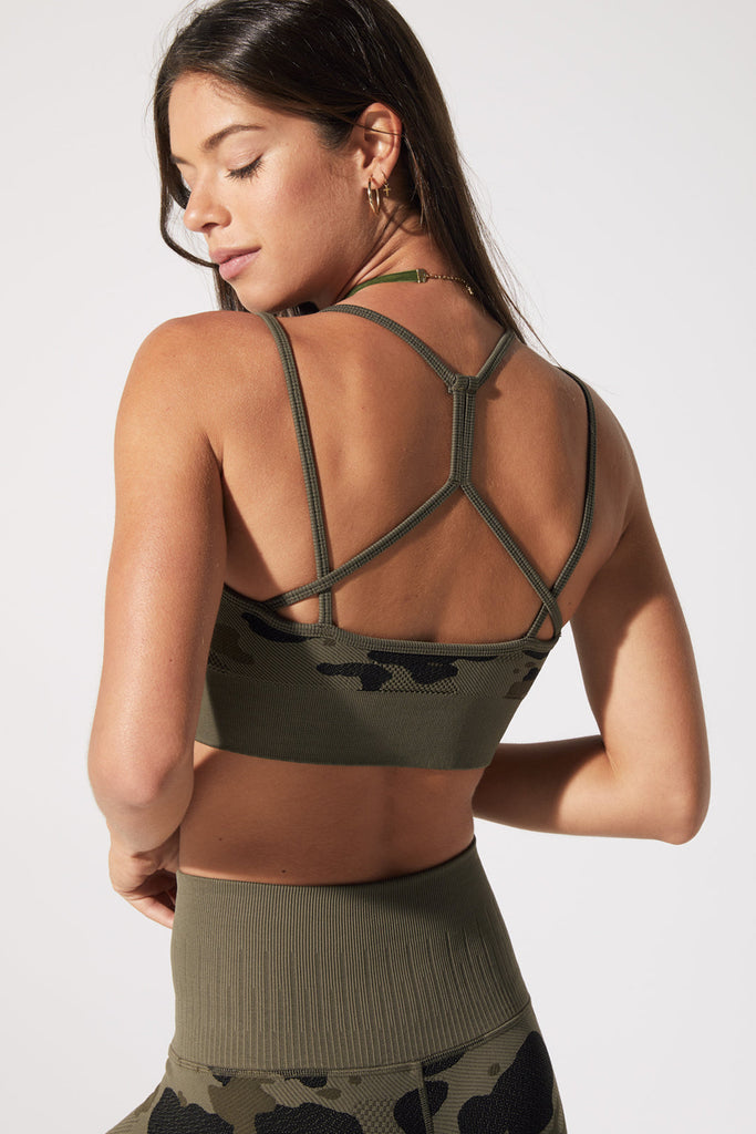 Camo Bra in Olive Night