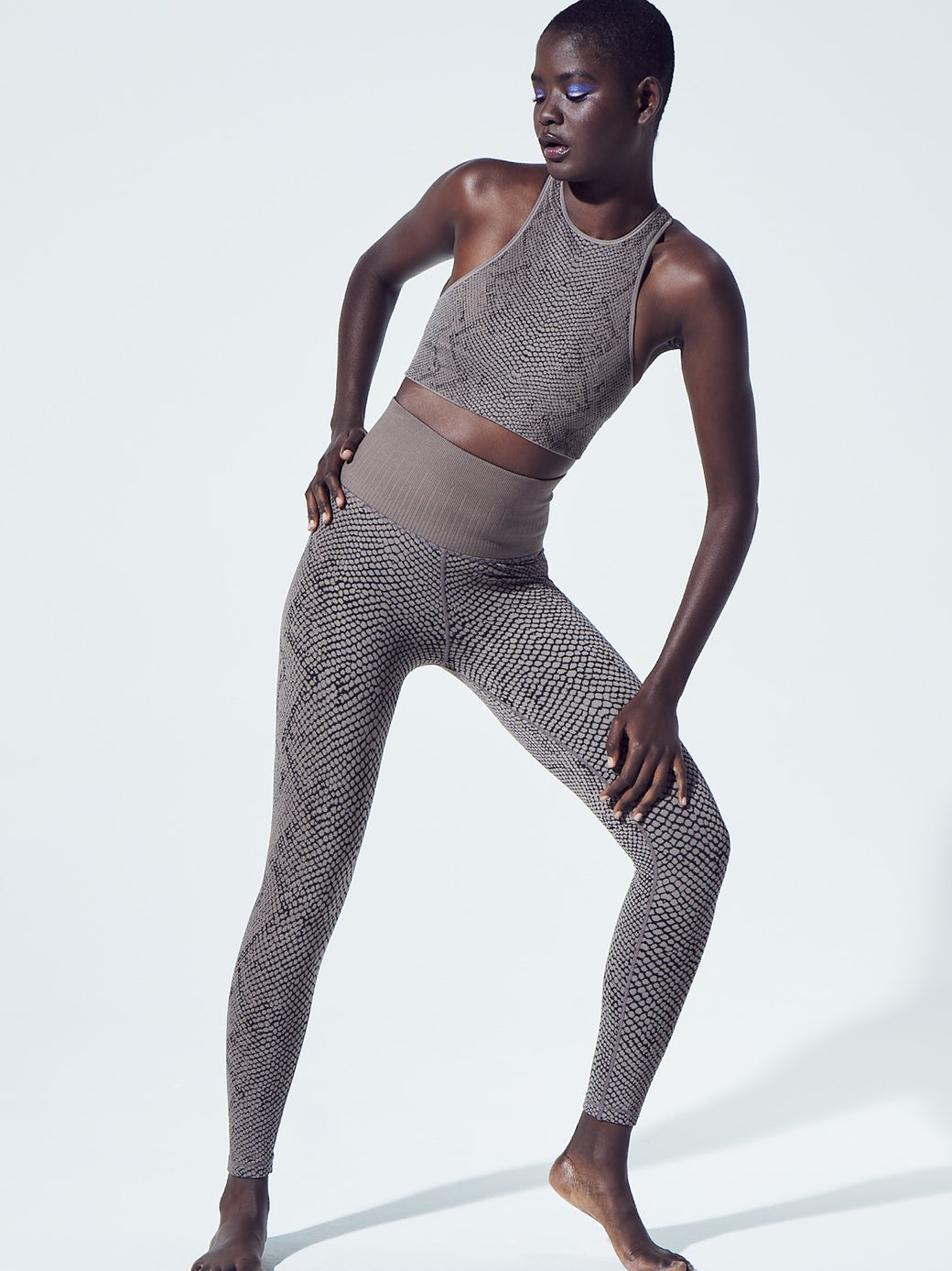Snake Fire Legging in Pewter