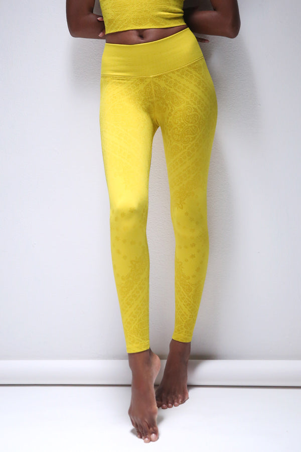 Priya Paisley Legging in Cress Green