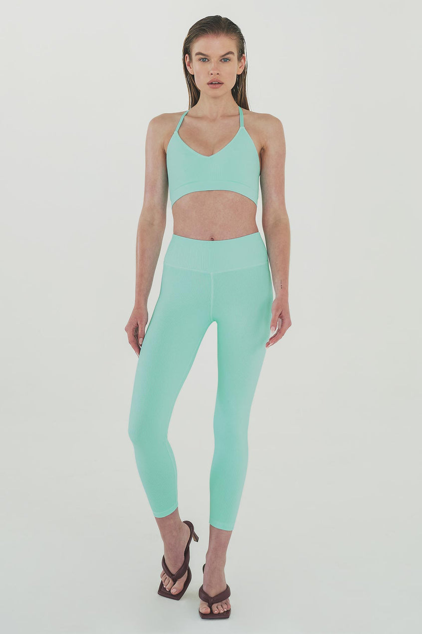 Remi 7/8 Legging in Aqua Island