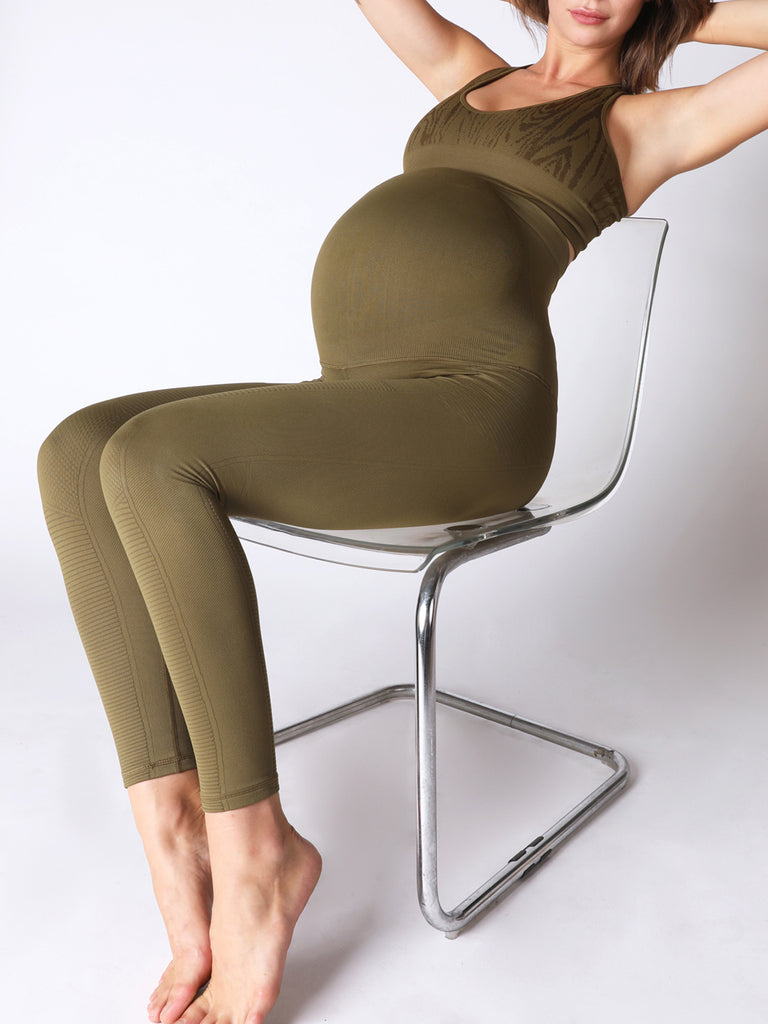 AvoMom Phoenix Fire Legging in Roasted Olive