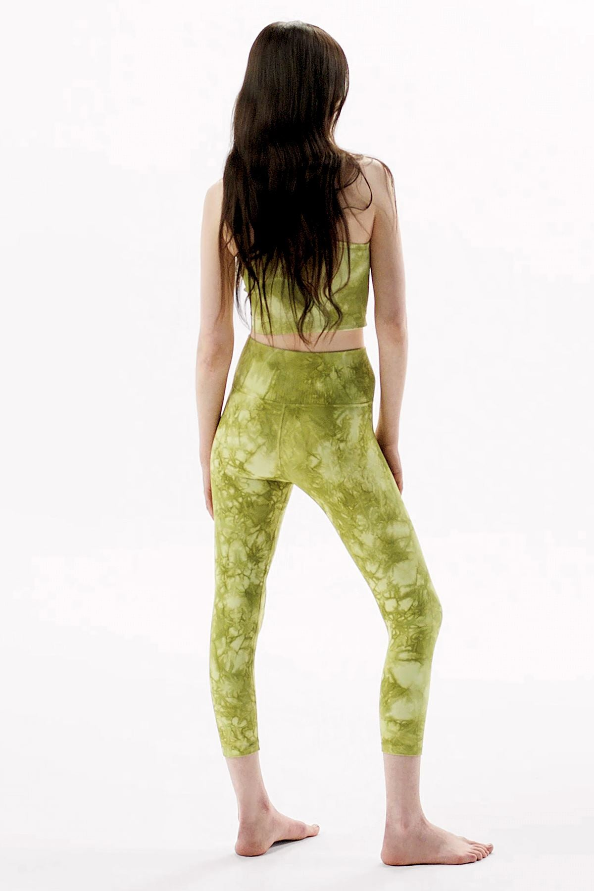 Rock Wash Mid Rise Universal 7/8 Legging in Moss Rock Wash