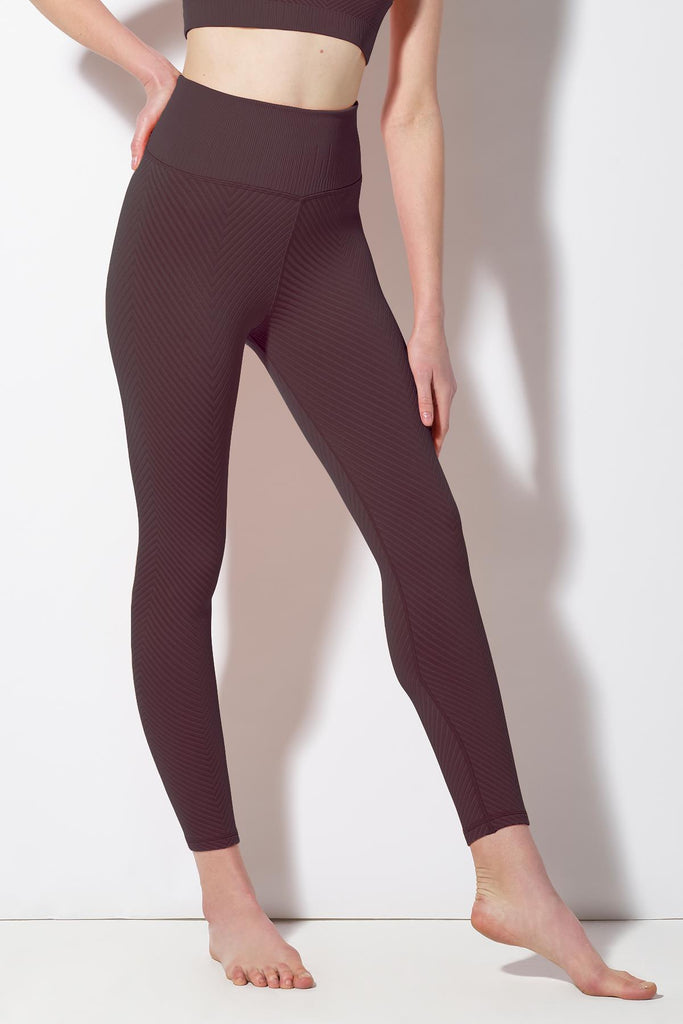 Shayna Chevron Legging in Huckleberry