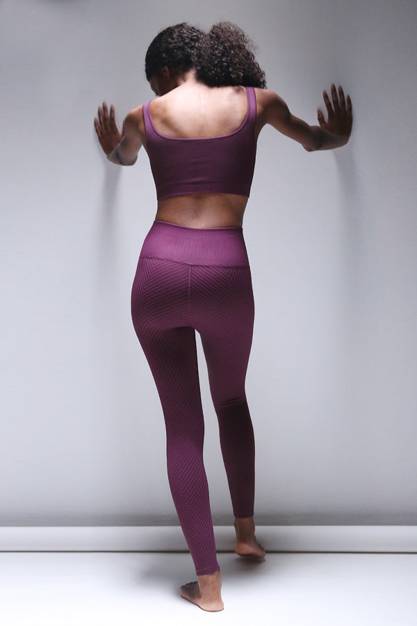 Shayna Chevron Legging in Potent Purple