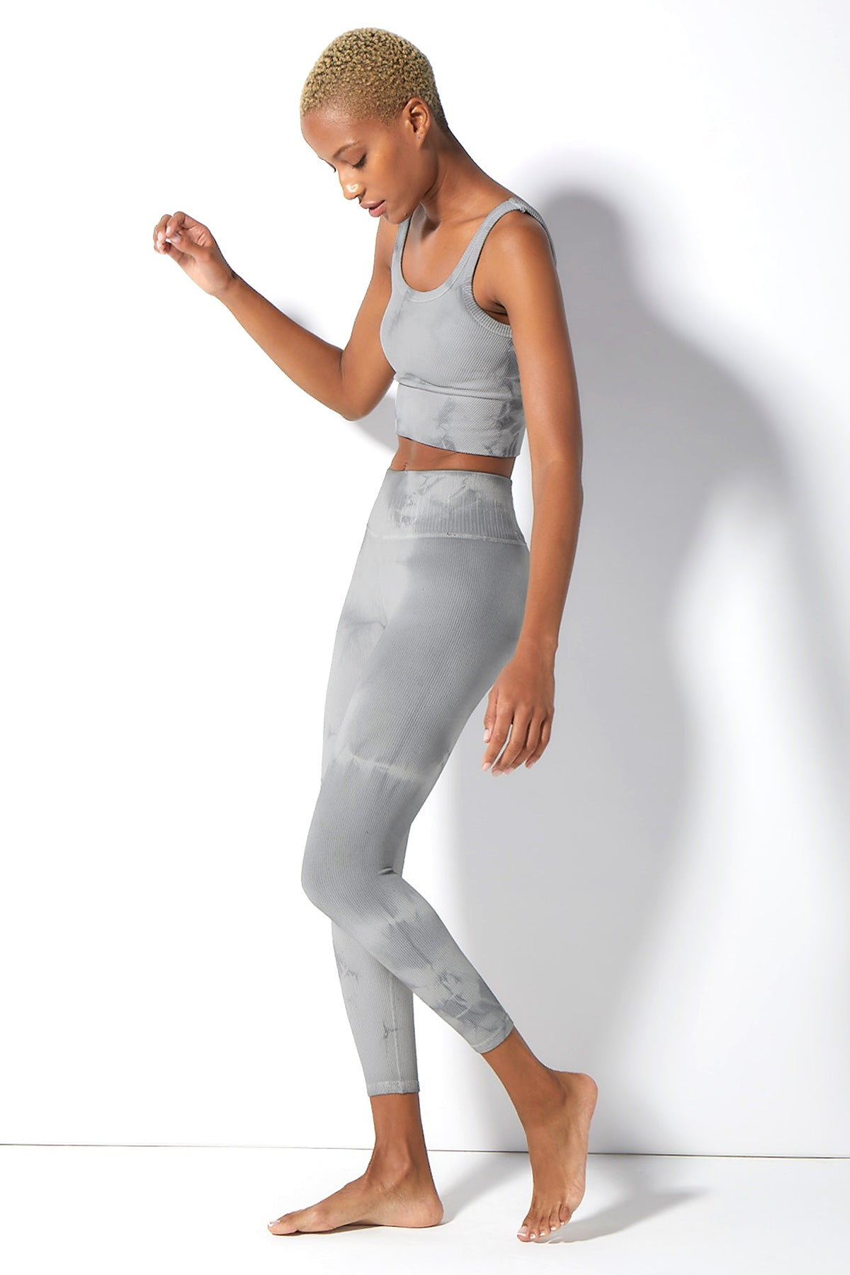 Haze Renee 7/8 Rib Legging in Tradewinds Haze