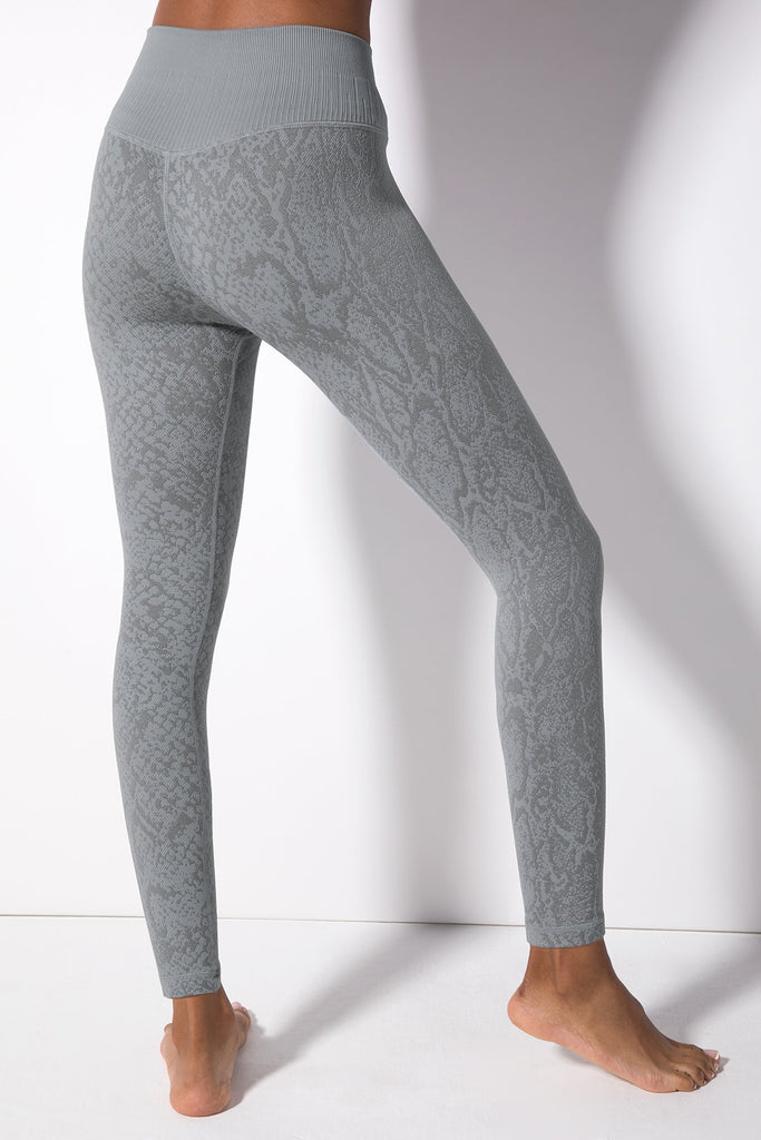 Polished Python Legging in Tradewinds