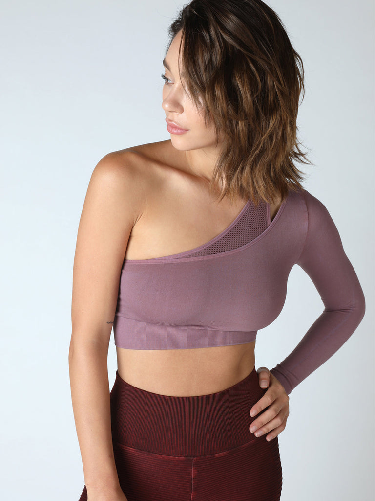 Mercury Bra L/S Crop in Vintage Antique Lilac