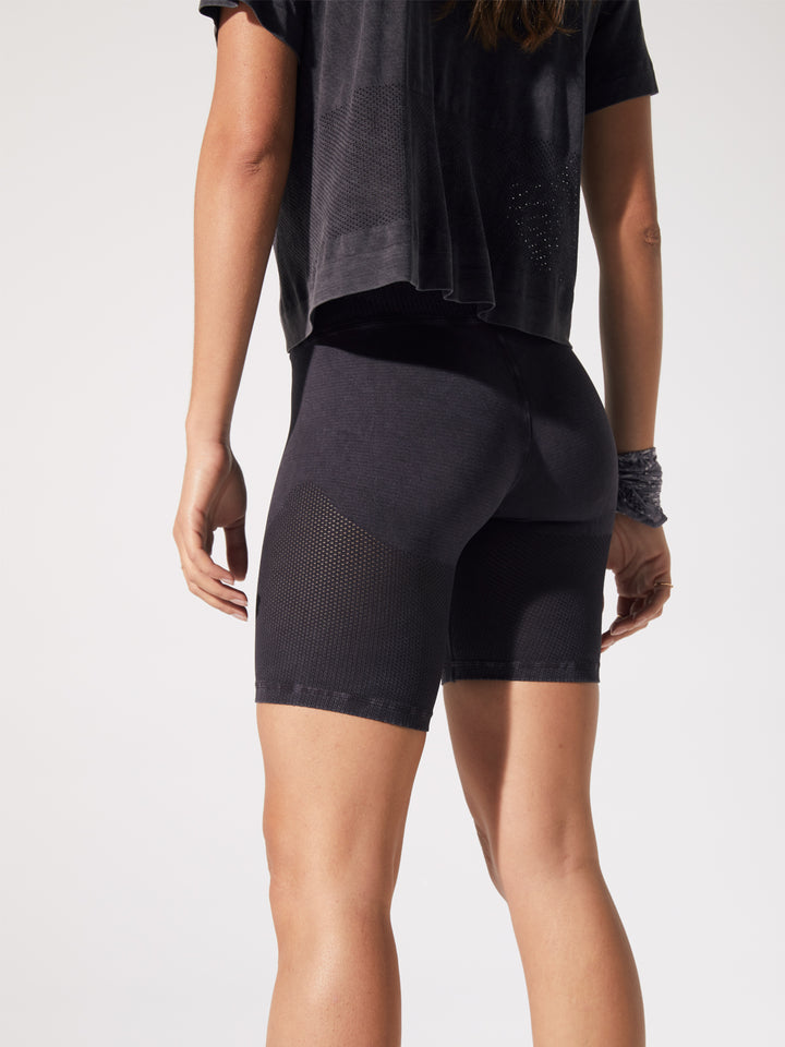 Mesh Biker Shorts in Vintage Black