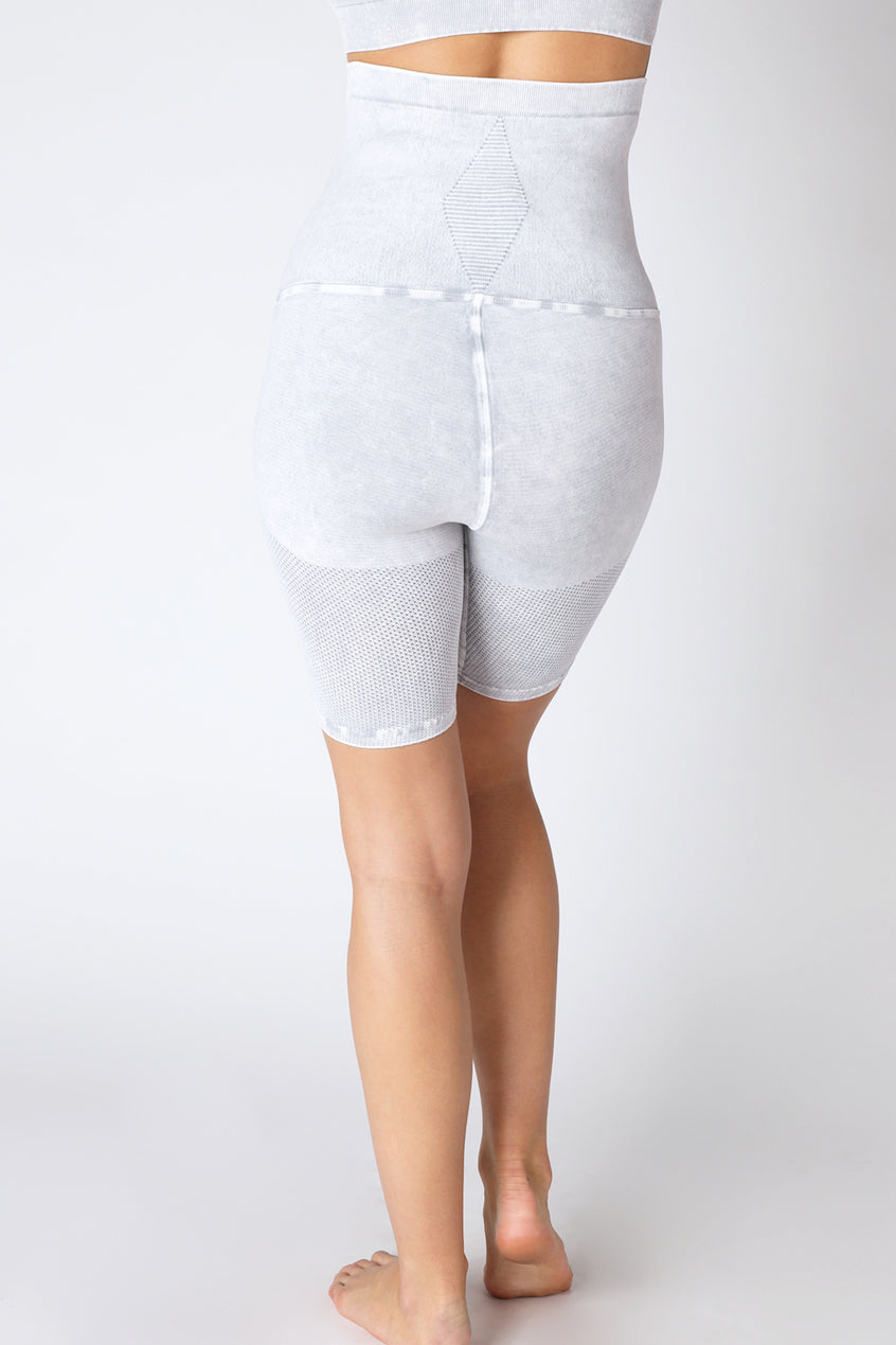 AvoMom Mesh Biker Short in Vintage Cool Grey