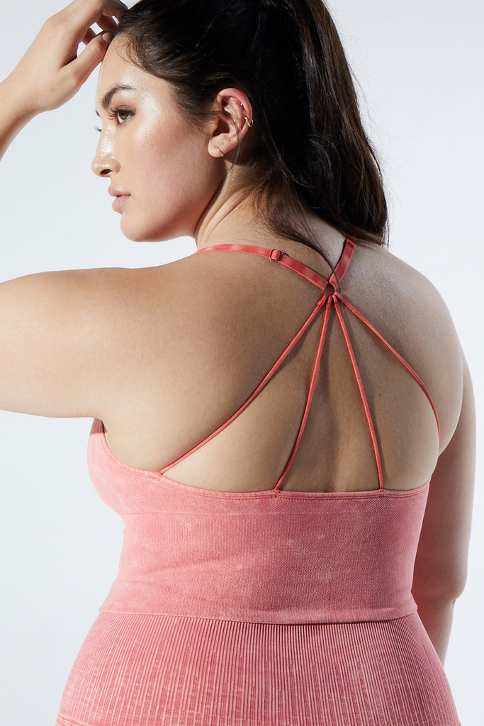 Stella Strappy Back Bra in Vintage Red Rock